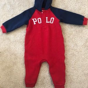 Baby Boy Polo One Piece Outfit